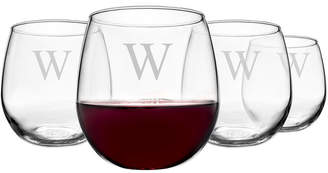 Cathy's Concepts Cathys Concepts Set Of 4 Personalized Red Wine Glasses