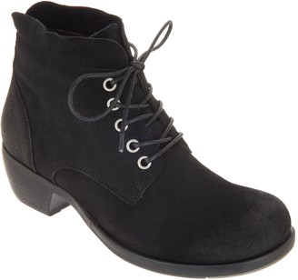 Fly London Suede Lace-up Ankle Boots - Mesu