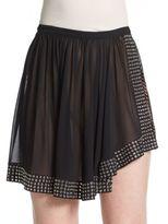 Alaia Grommet Asymmetrical Silk Skirt