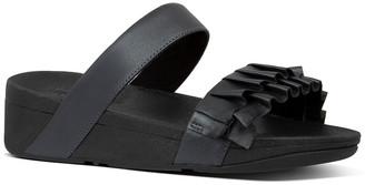 FitFlop Petal Ruffle Leather Slide