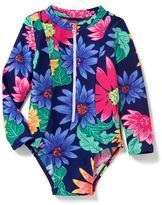 Old Navy Floral Full-Zip Rashguard for Toddler
