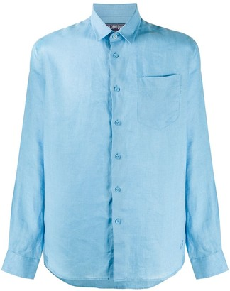 Vilebrequin Solid Colour Linen Shirt