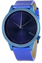Komono Women's KOM-W2801 Estelle Iridescent Series Stainless Steel Watch with Faux-Leather Band