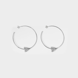 Pamela Love Anemone Hoops In Silver