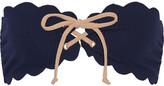 Marysia Swim Antibes Scalloped Bandeau Bikini Top - Navy
