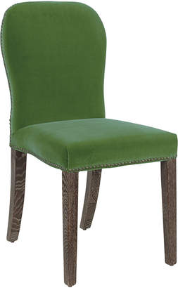 OKA Stafford Velvet Dining Chair - Putting Green