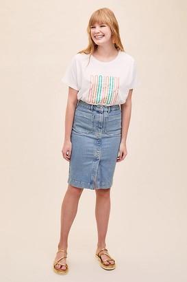 Selected Denim Midi Skirt