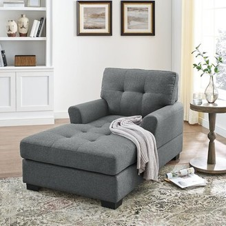 Latitude Run Bowbridge Chaise Lounge Fabric: Gray