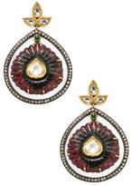 Amrapali Emerald, Tourmaline and Diamond Earrings