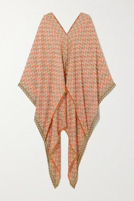 Missoni Metallic Checked Cotton-blend Wrap - Orange