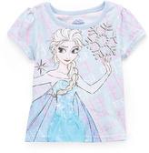 Children's Apparel Network Frozen Elsa Snowflake Cap-Sleeve Tee - Toddler