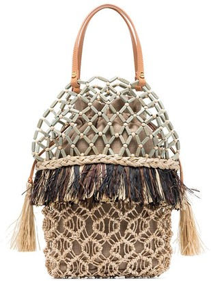 Aranaz Lambat 2 Abaca beaded raffia bag