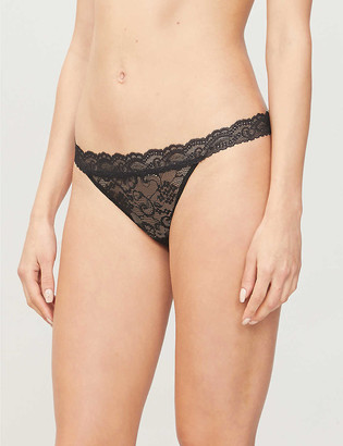 Aubade Rosessence lace backless briefs