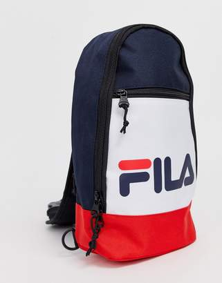 Fila Marlin Single Strap backpack in navy white and red-Multi