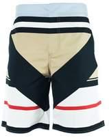 Givenchy Men's Beige Multi Color Board Shorts.