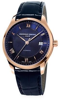 Frederique Constant Classics Index Rose Goldtone & Leather Strap Automatic Watch