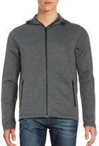 Kenneth Cole New York Ottoman Knit Hooded Striped Jacket