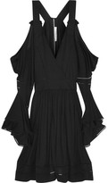 Givenchy Black Jersey Mini Dress With Cutout Shoulders - FR34