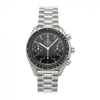 Omega Speedmaster reduced Black Steel Watches