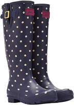 Joules Women's Navy Spot Wellies