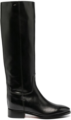 Santoni Knee-Length Leather Boots