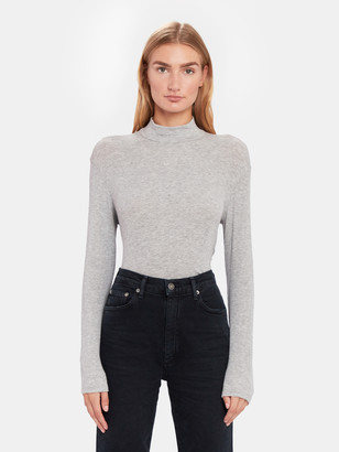 Splendid Mock Neck 2x1 Tee