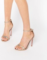 Carvela Gatsby Gold Multi Leather Barely There Heeled Sandals