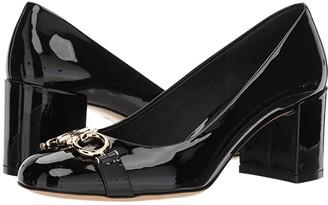 Salvatore Ferragamo Garda Round Toe Pump (Nero) High Heels
