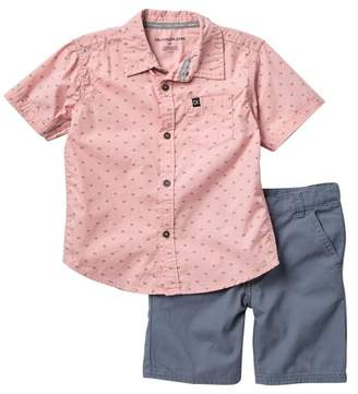 Calvin Klein Woven Shirt & Shorts Set (Toddler Boys)