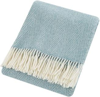 Tweedmill - Beehive Wool Throw - Petrol