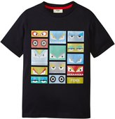 Fendi T-shirt With Monster Faces (Toddler/Kid) - Navy - 2T