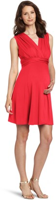Maternal America Women's Maternity Mini Tie Front Dress