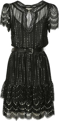 Michael Kors Lace Belted Dress