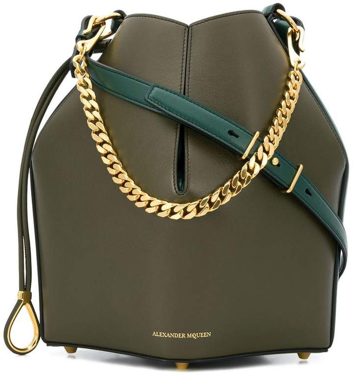 Alexander McQueen chunky chain shoulder bag
