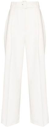 Frankie Shop Elvira belted wide-leg trousers