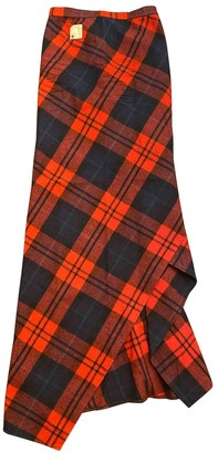 DSQUARED2 Red Wool Skirt for Women