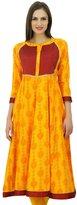 Bimba Women Anarkali Designer Cotton Kurti 3/4 Sleeve Ladies Kurta Custom Dress