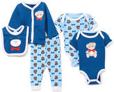 Sweet & Soft Boys' Infant Bodysuits Navy - Navy Teddy Bear Cardigan Set - Newborn & Infant