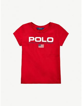 Ralph Lauren Logo-print cotton-jersey T-shirt 7-14 years