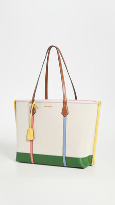 Tory Burch Perry Canvas Triple Compartment Tote