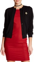 Love Moschino Ribbed Texture Wool Cardigan
