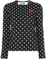 Comme des Garcons polka dot heart patch T-shirt