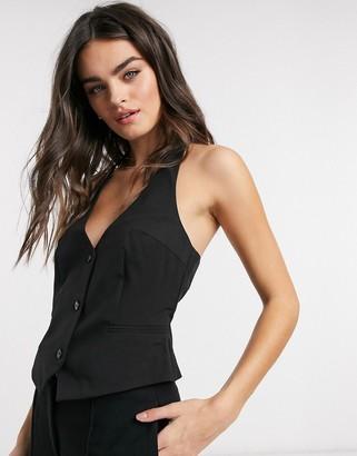 ASOS DESIGN mix & match suit suit vest in black