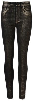 AllSaints Snake Print Miller Skinny Jeans