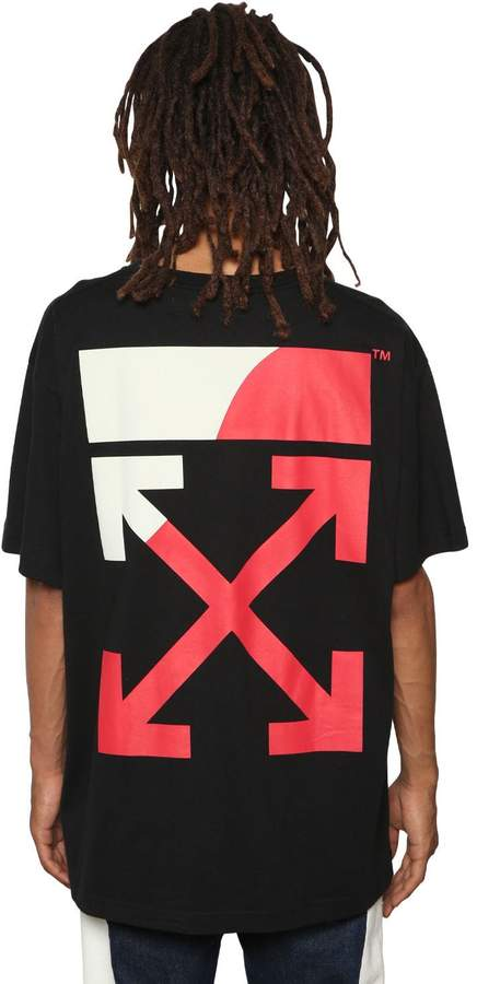 Off-White Oversized Fit Printed Jersey T-Shirt