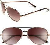 Kate Spade Women's 'Avaline' 58Mm Aviator Sunglasses - Brown/ Brown Gradient