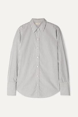 Nili Lotan Helen Striped Cotton-poplin Shirt - Gray