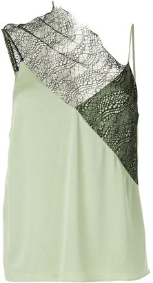 CHRISTOPHER ESBER Drape Neck Lace Cami