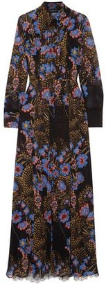 Etro Lace-paneled Floral-print Silk-georgette Shirt And Dress Set