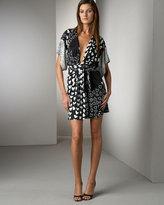 Issa London Silk Heart-Print Dress